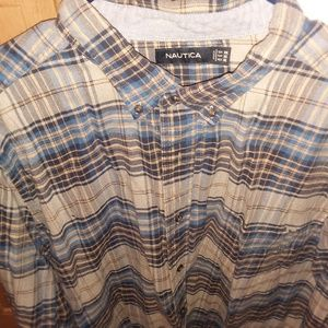 Mens Plaid Flannel Shirt Nautica XXL